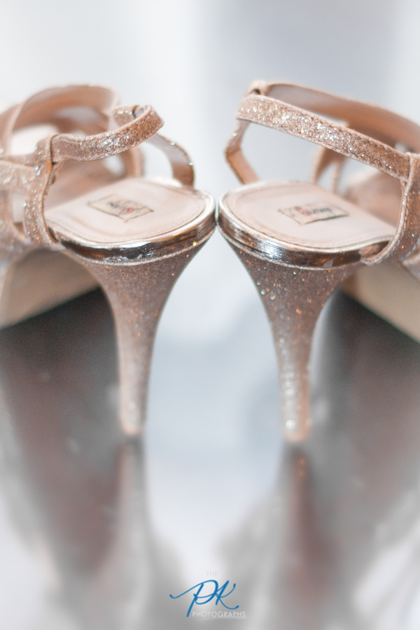 Gold Glittery Wedding Shoes -- San Antonio Wedding Photographer