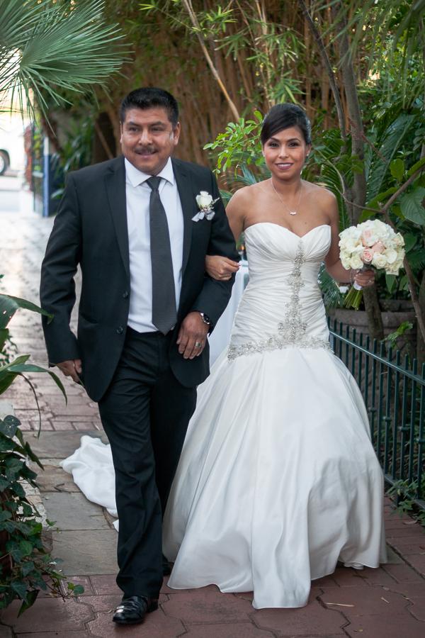 Bride Arriving at La Fonda on Main - San Antonio Wedding Photographer