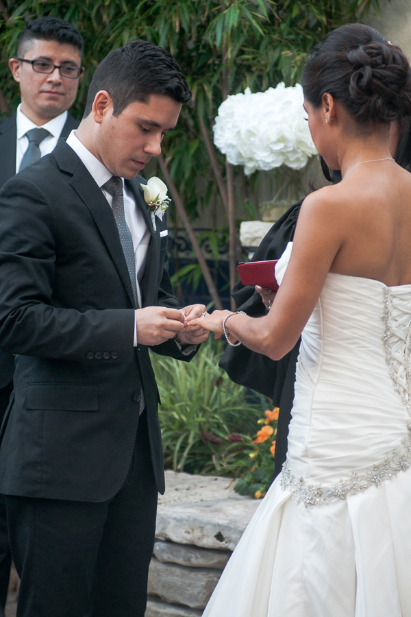 Wedding Ceremony at La Fonda on Main - San Antonio Wedding Photographer