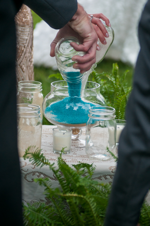 Sand Ceremony at at the Lodge at Country Inn Cottages | San Antonio Wedding Photographer