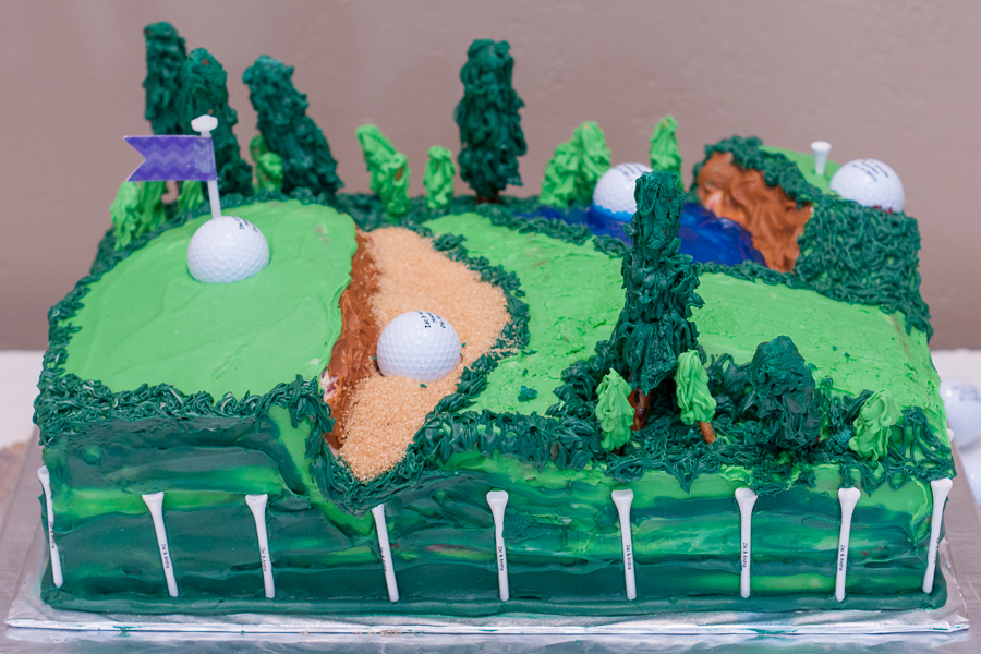 Custom Golf Groom's Cake at the Lodge at Country Inn Cottages | San Antonio Wedding Photographer