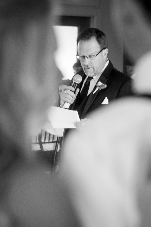 Father of the Bride Toasting at Rock House Hideaway in Fredericksburg, Texas by San Antonio Wedding Photographer Parker Radbourne