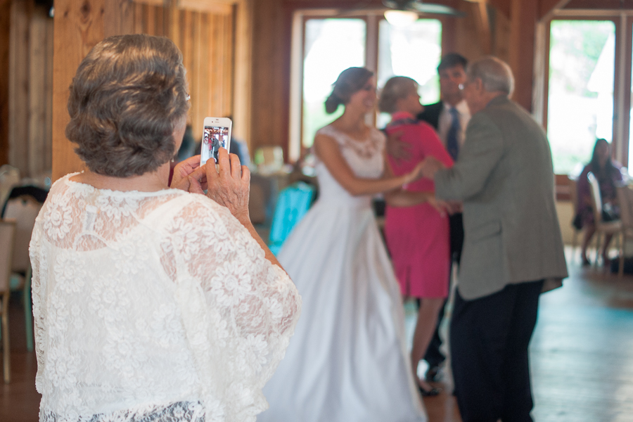 Grandmother Watching Bride Dancing with Grandfather | San Antonio Wedding Photographer