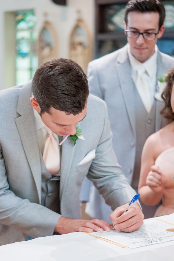 Signing Marriage License | San Antonio Wedding Photographer