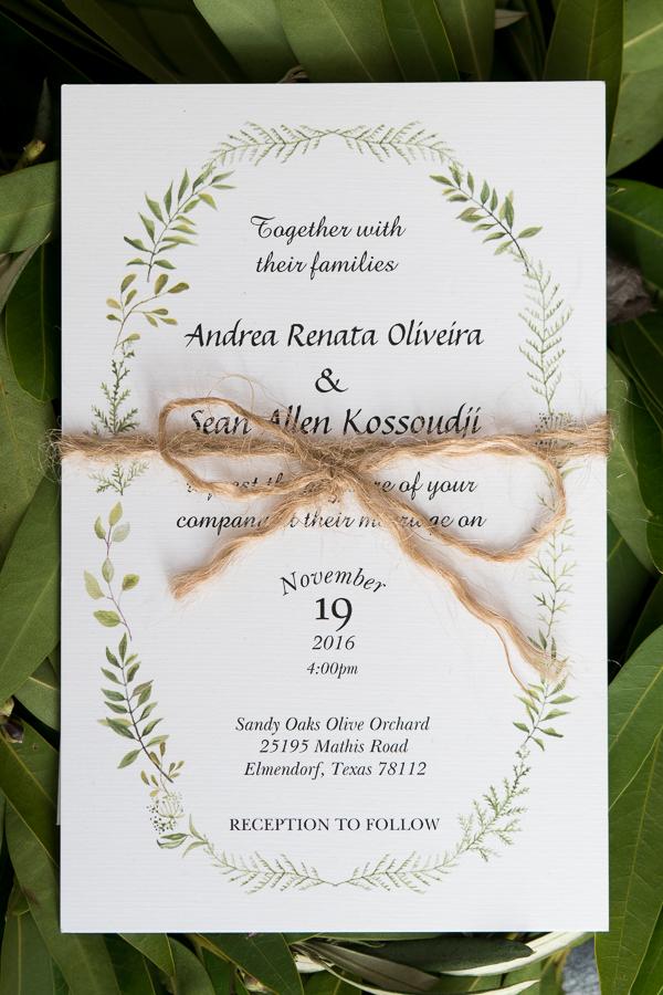 Wedding Invitation | San Antonio Wedding Photographer