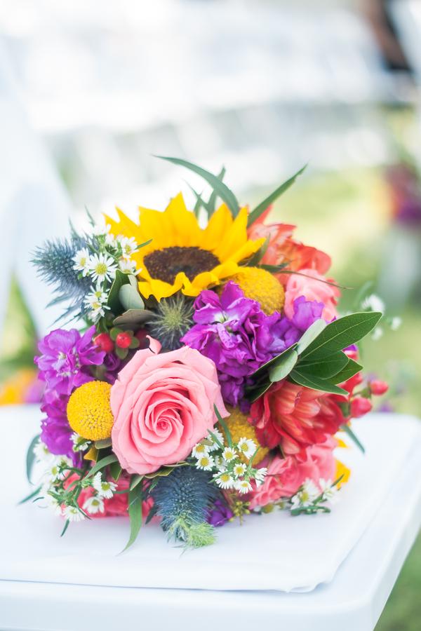 Colorful Bridal Bouquet  | San Antonio Wedding Photographer