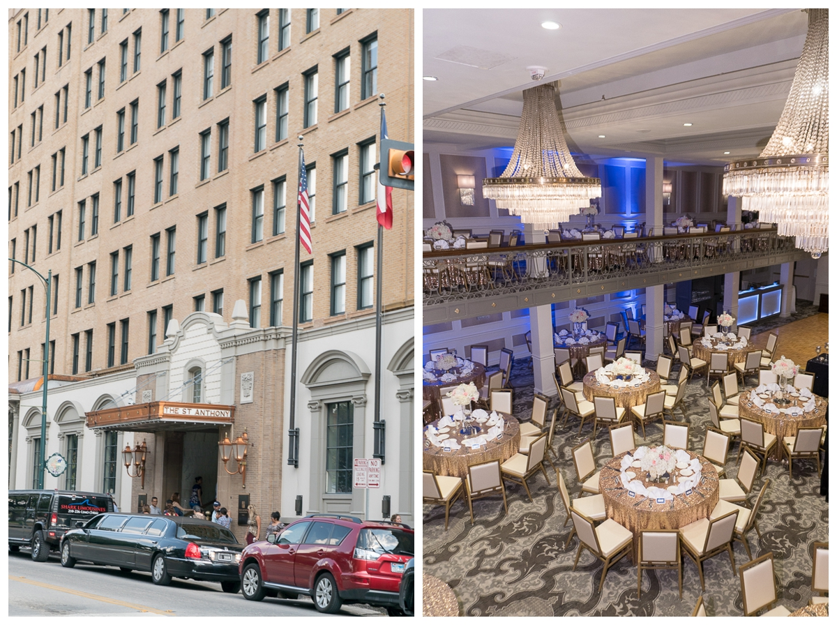 St. Anthony Hotel Wedding Reception | San Antonio Wedding Photographer