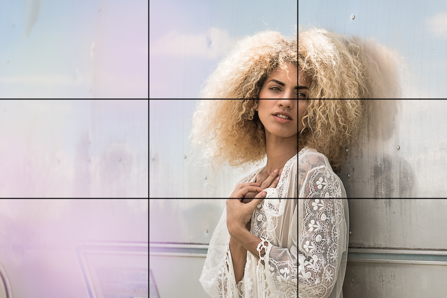 Example of use of the Rule of Thirds in Portraiture