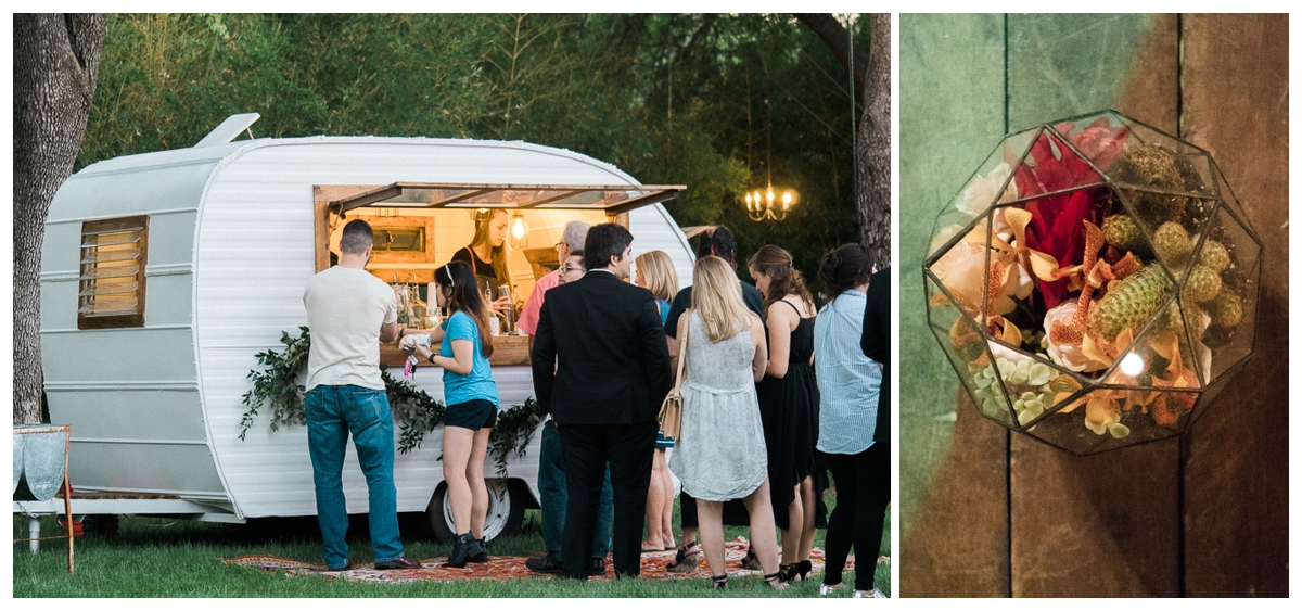 Indie House Event Rentals Cosmic Camper & Centerpiece by Statute of Design