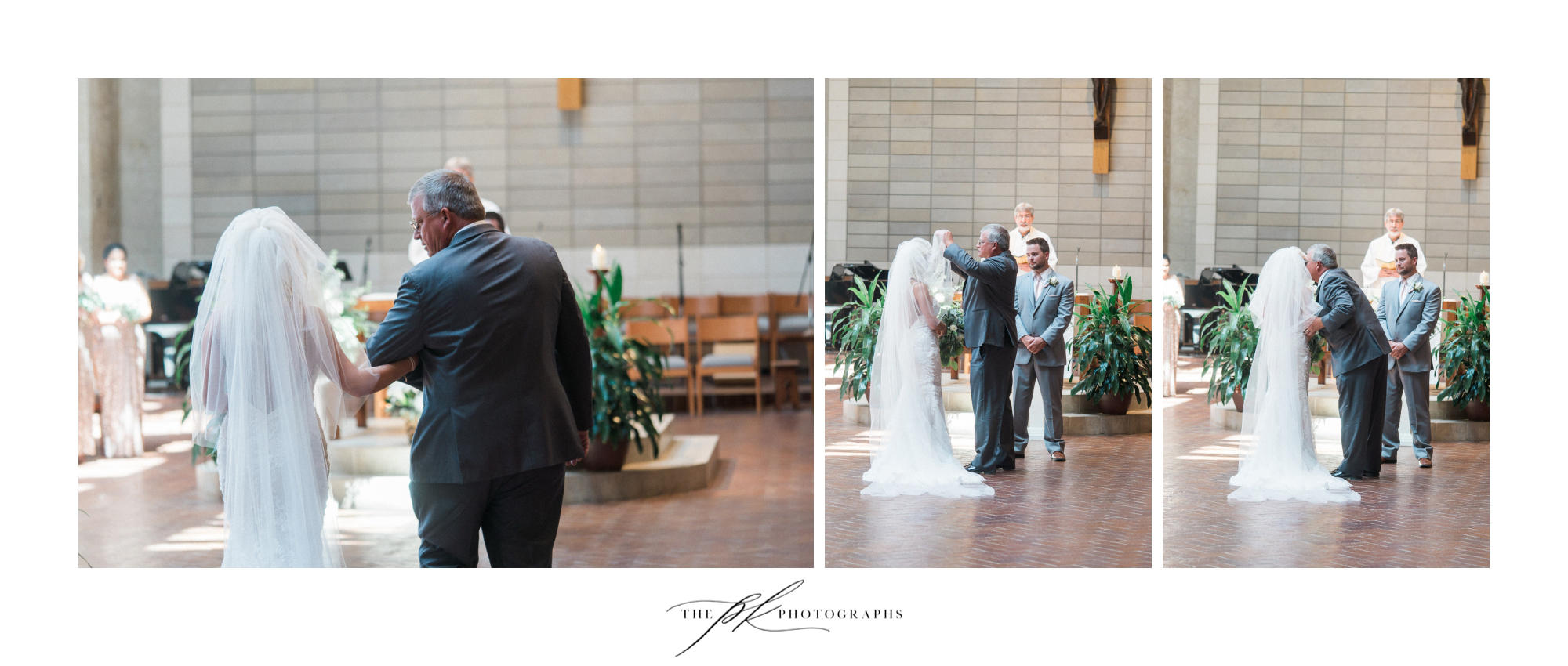 Being handed off by Dad is one of my favorite parts of the wedding ceremony. The end of one part of life, and the beginning of another!  St. Peter the Apostle Catholic Church | San Antonio Wedding Photographer