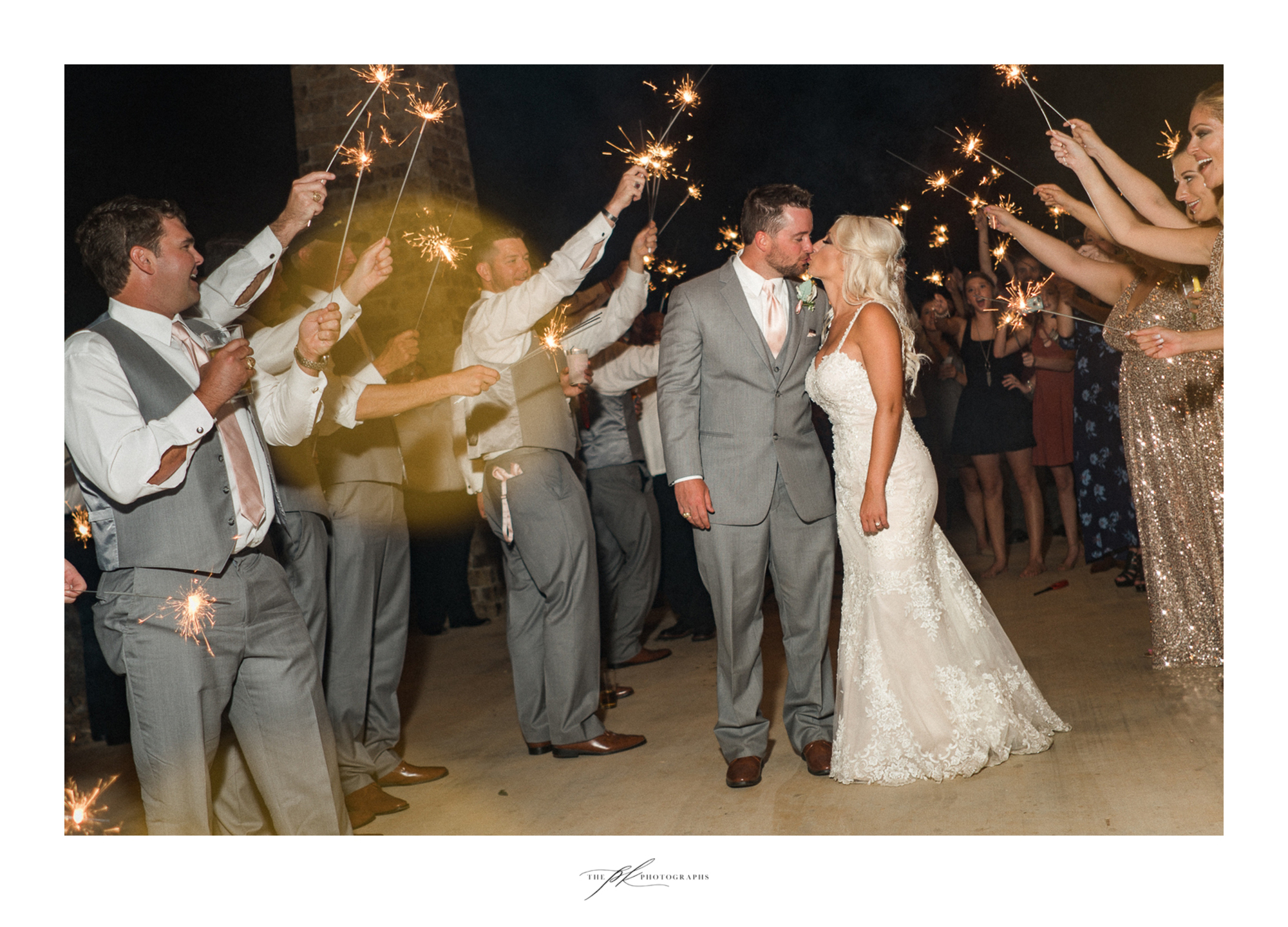 Ah, the beauty of a sparkler exit. Nothing compares!  The Lodge At Country Inn Cottages | San Antonio Wedding Photographer