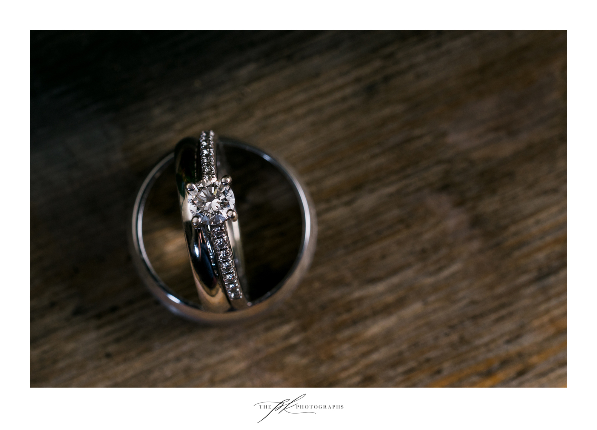 Katie and Matt's wedding ring set.