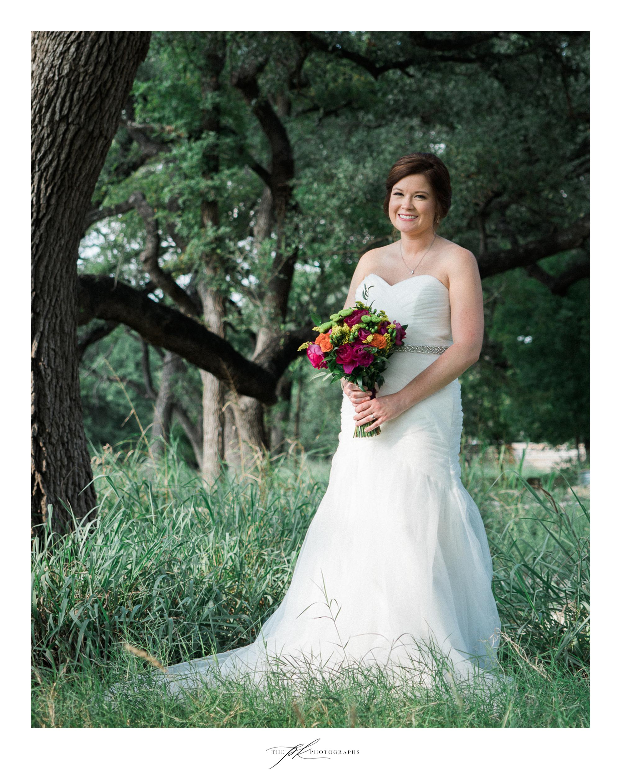 Katie at Magnolia Halle, a San Antonio wedding venue in the heart of the city.
