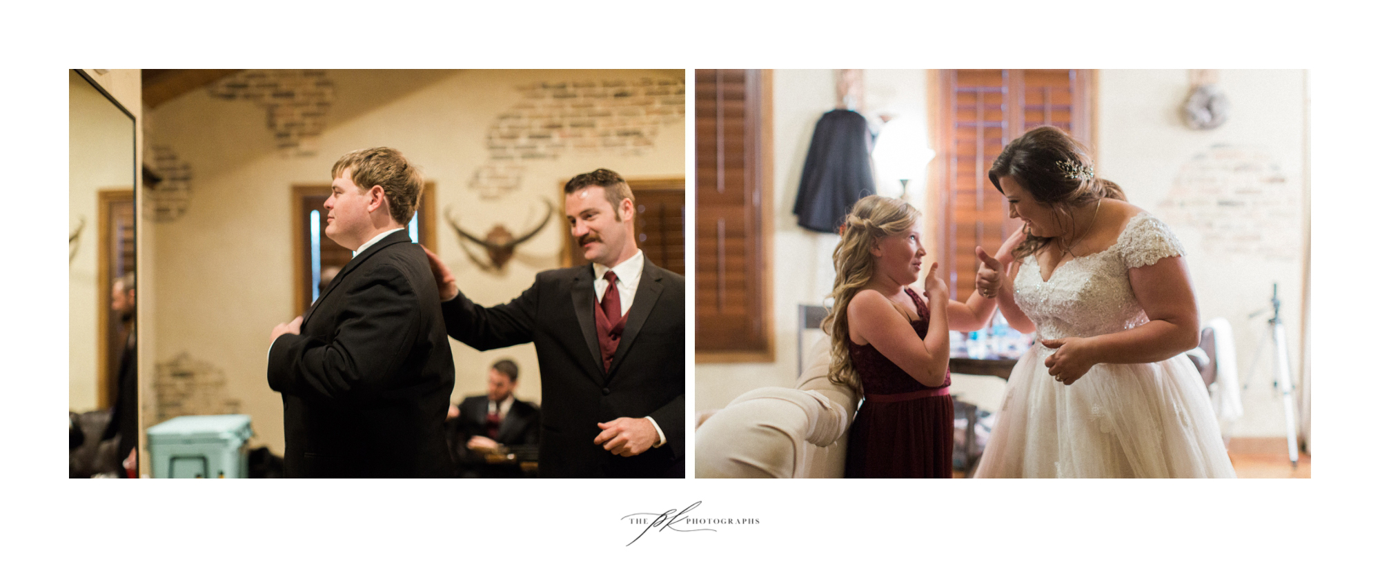 Emily and Lamar both soothed their pre-wedding jitters with a bit of encouragement and support.