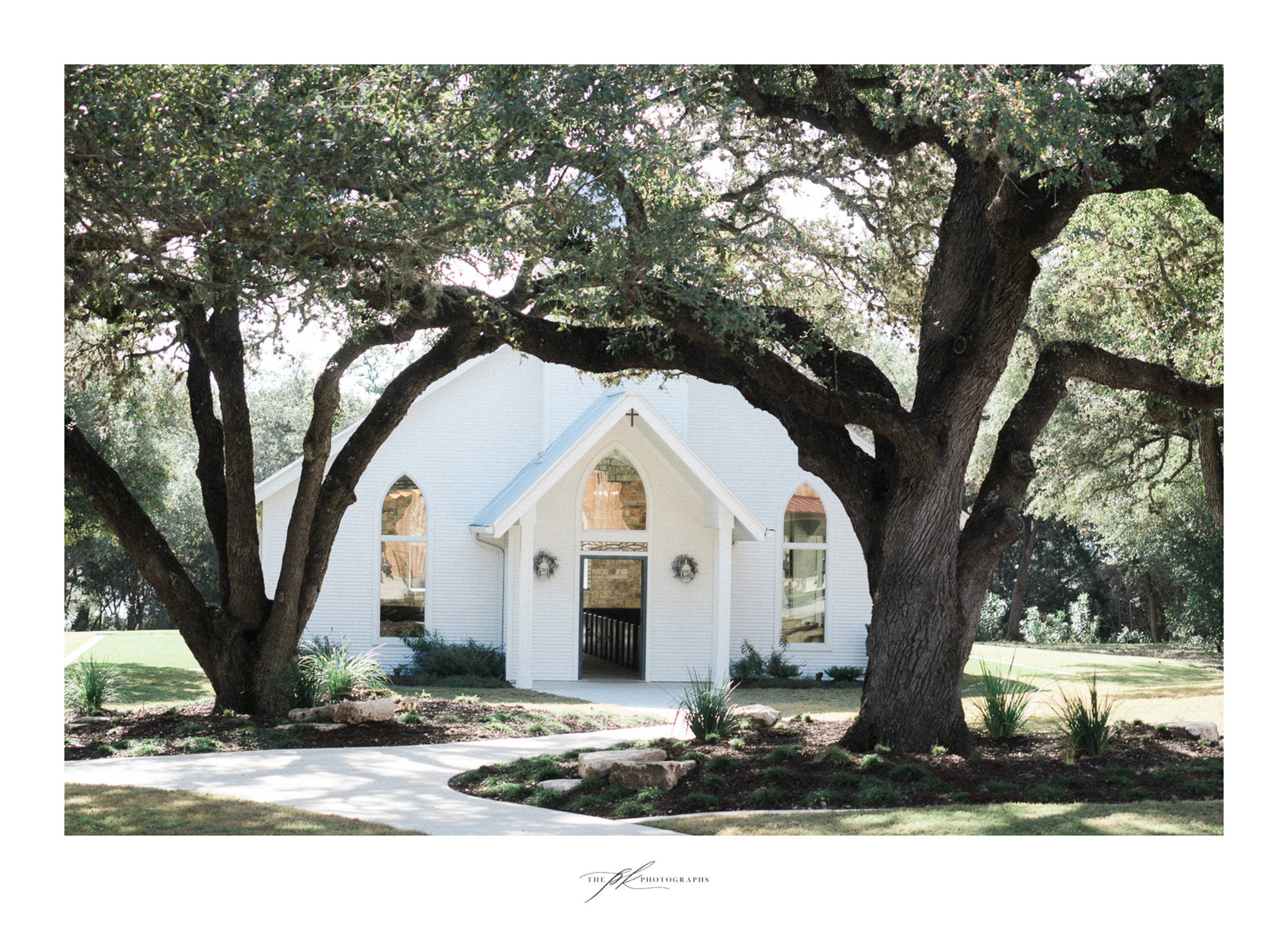 The beautiful open air chapel at the Chandelier of Gruene.