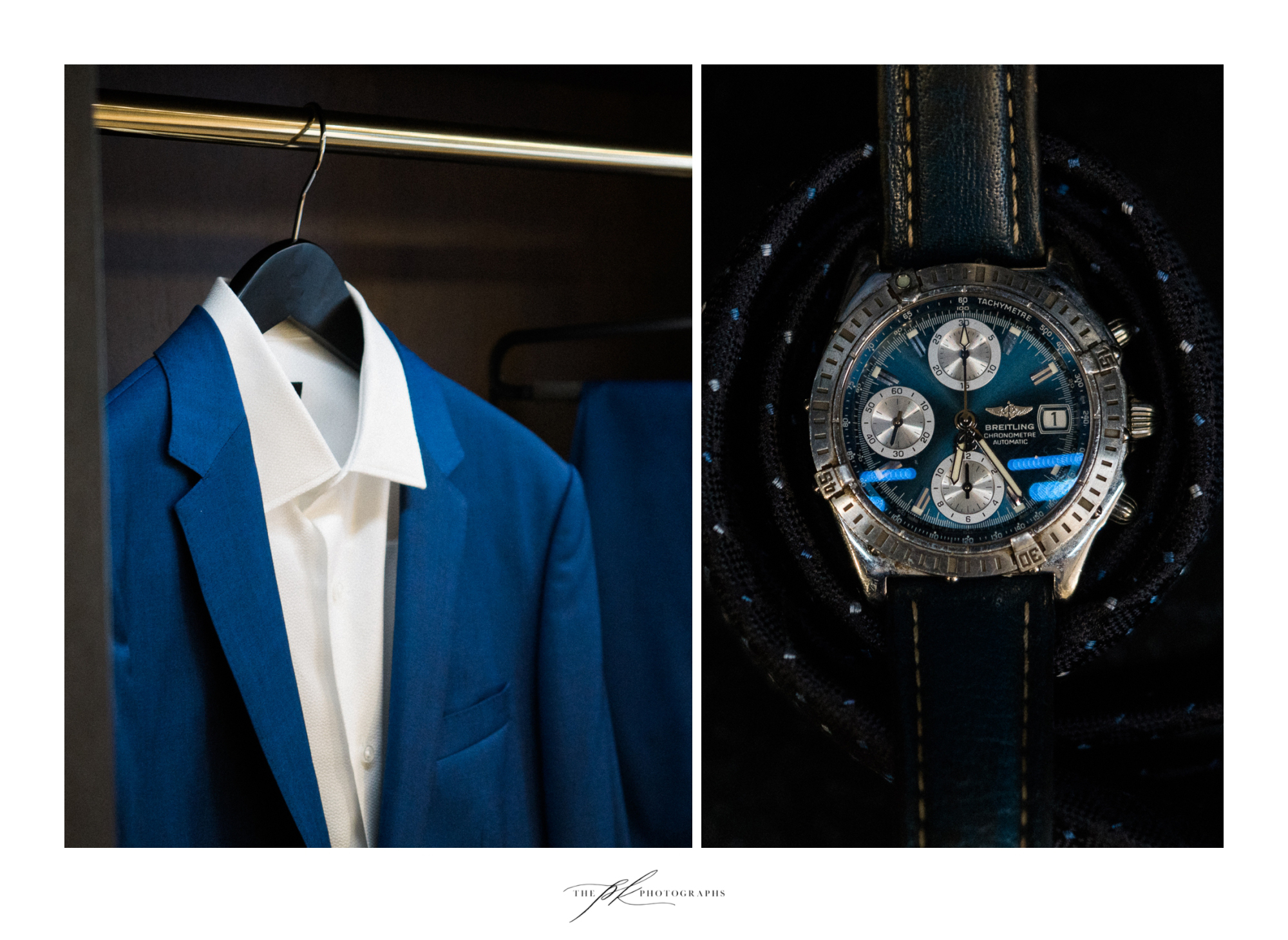 Groom's suit and watch.