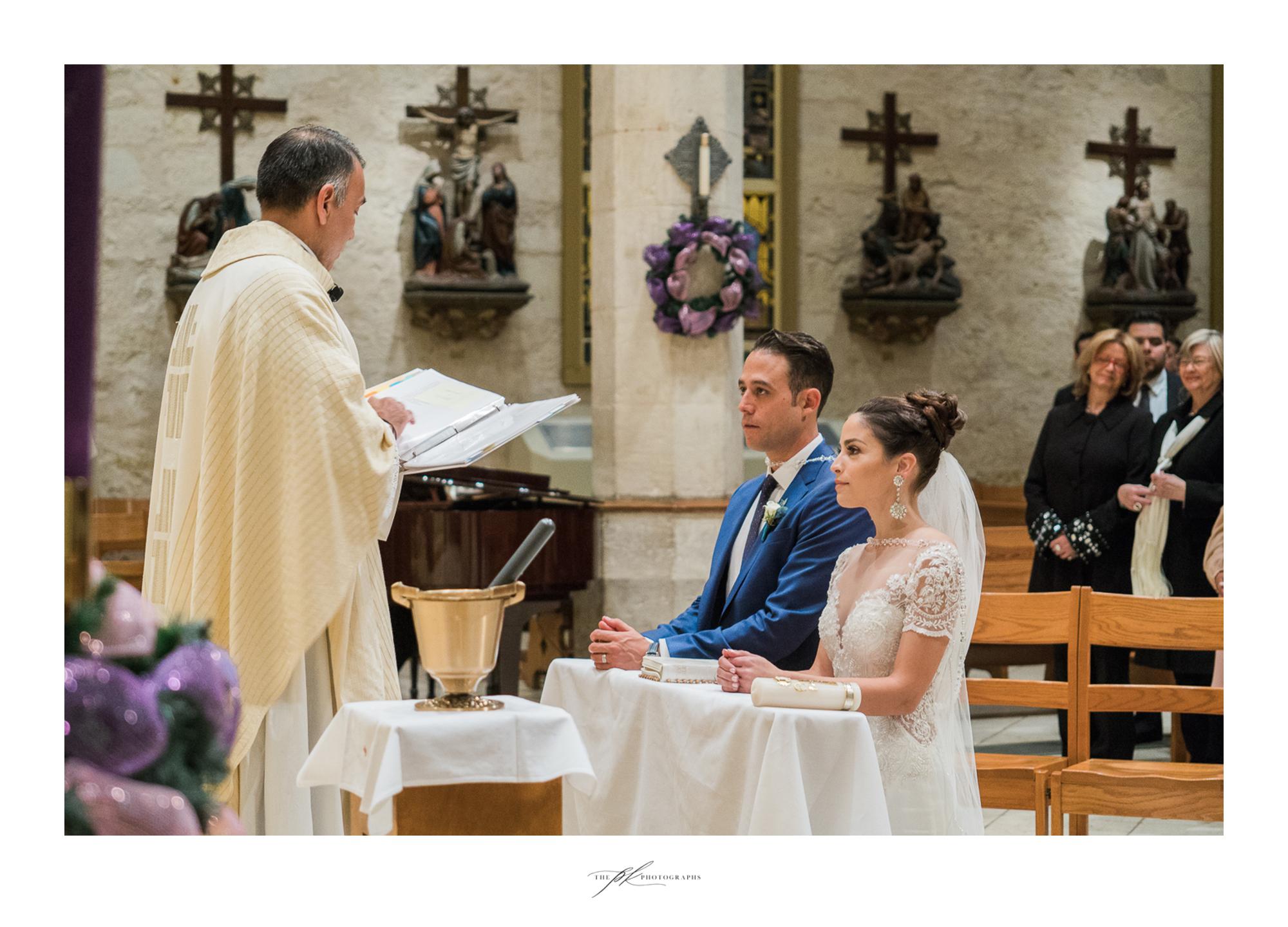 Wedding ceremony at San Fernando Cathedral in San Antonio, Texas.