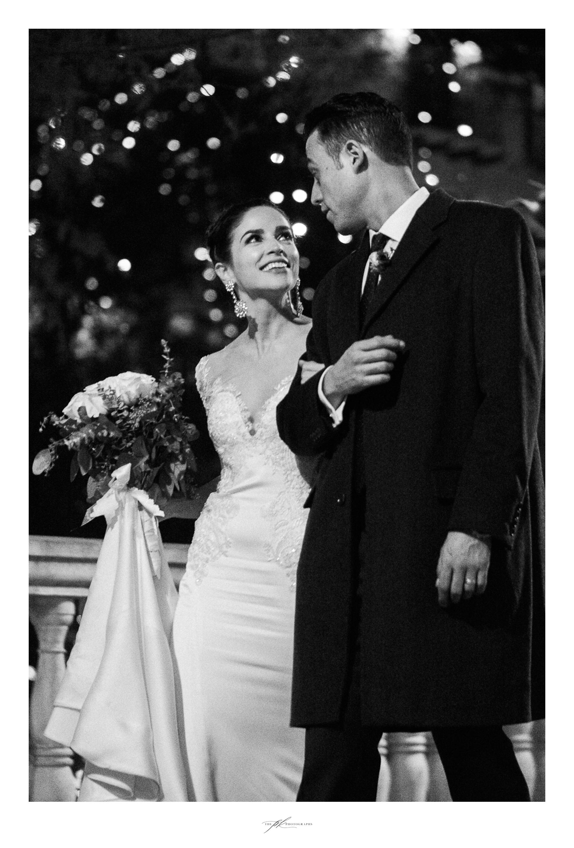 Bride and groom downtown San Antonio.
