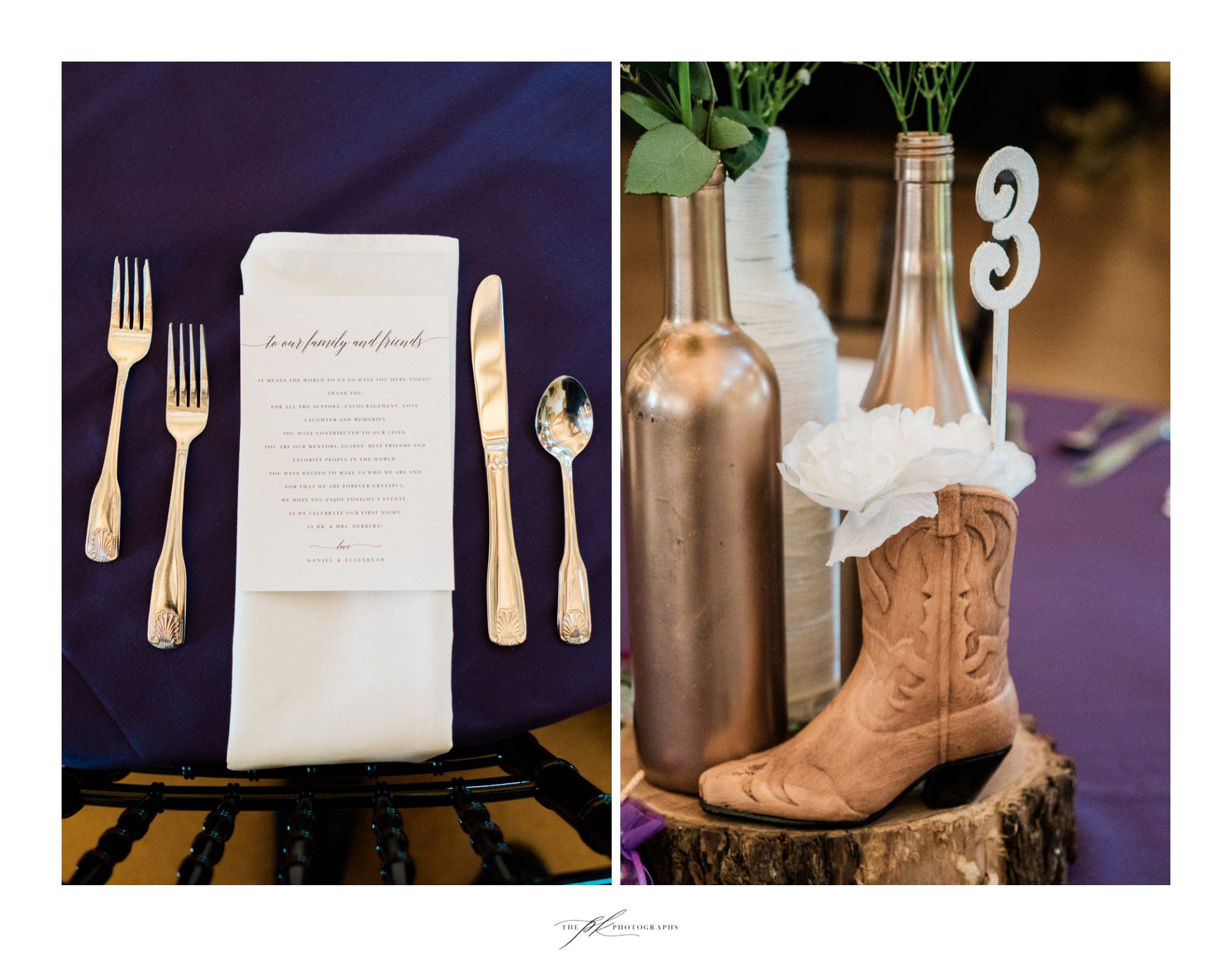 Wedding Reception Decor at Magnolia Halle in San Antonio, Texas - Photographed by The PK Photographs