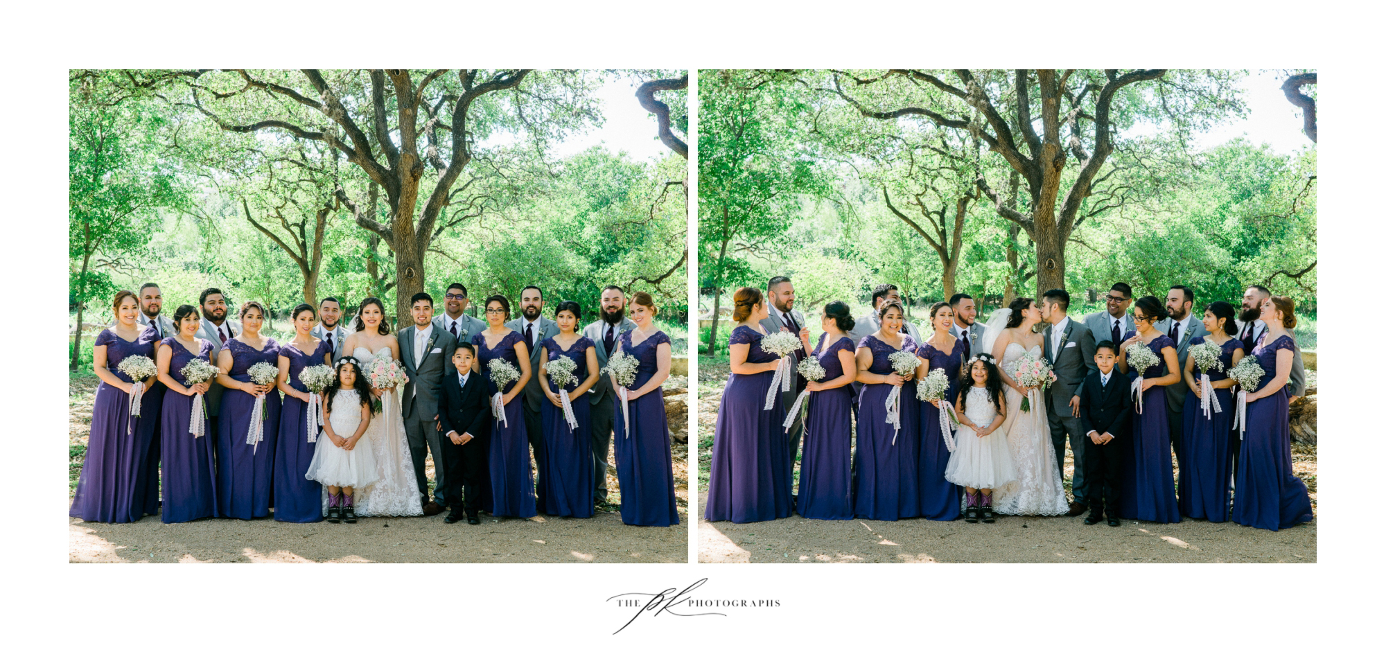 Bridal party at Magnolia Halle in San Antonio, Texas - Photographed by The PK Photographs