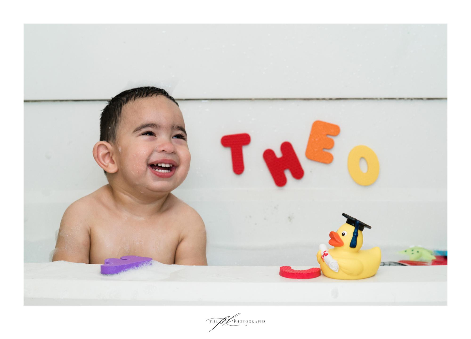 Kid's Bubble Bath Portrait Session