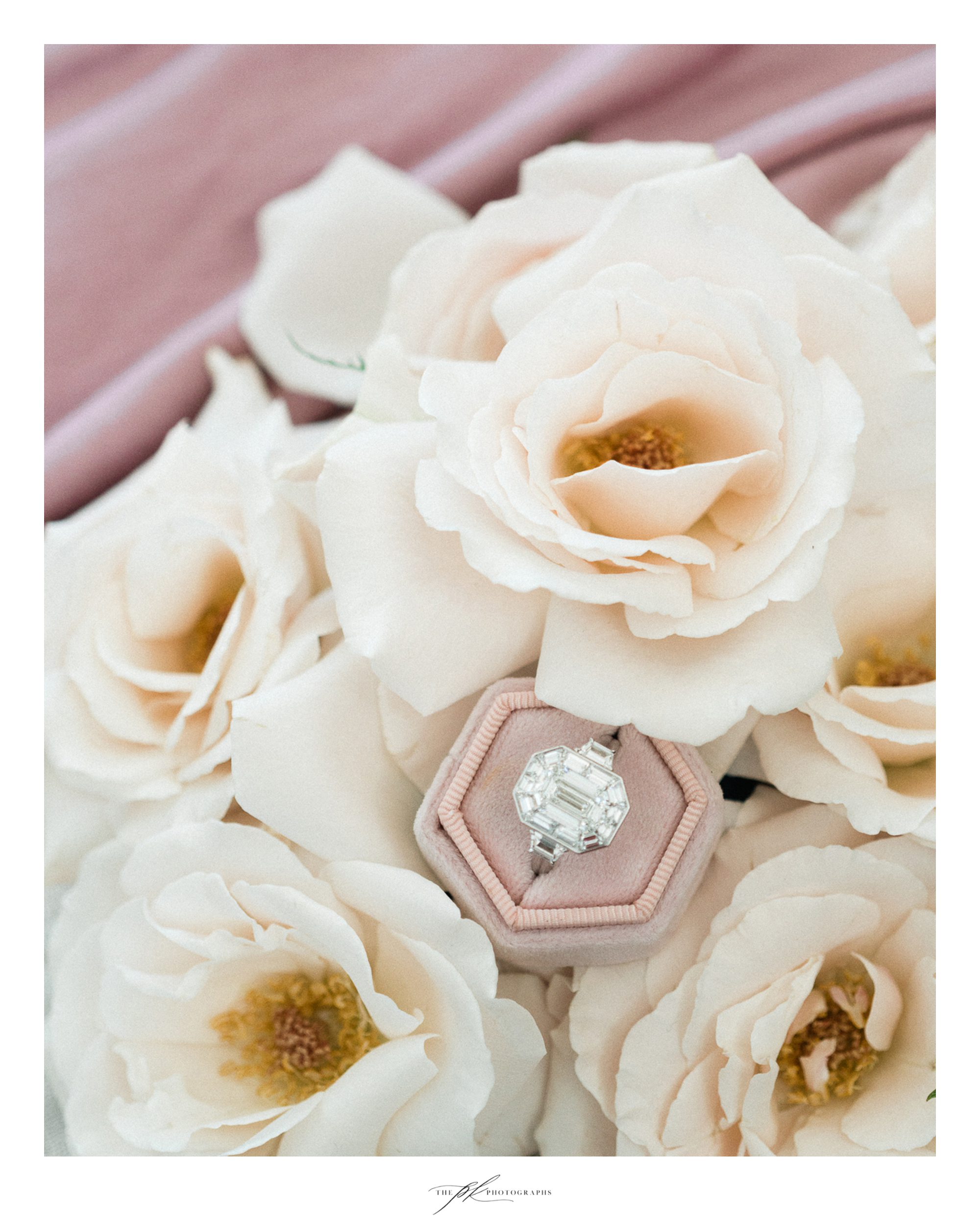 Photographer: Parker Radbourne of  The PK Photographs  Flowers:  The Vintage Bouquet Bar  Jewelry:  Nicole Mera  Ring Box:  Your Hearts Content