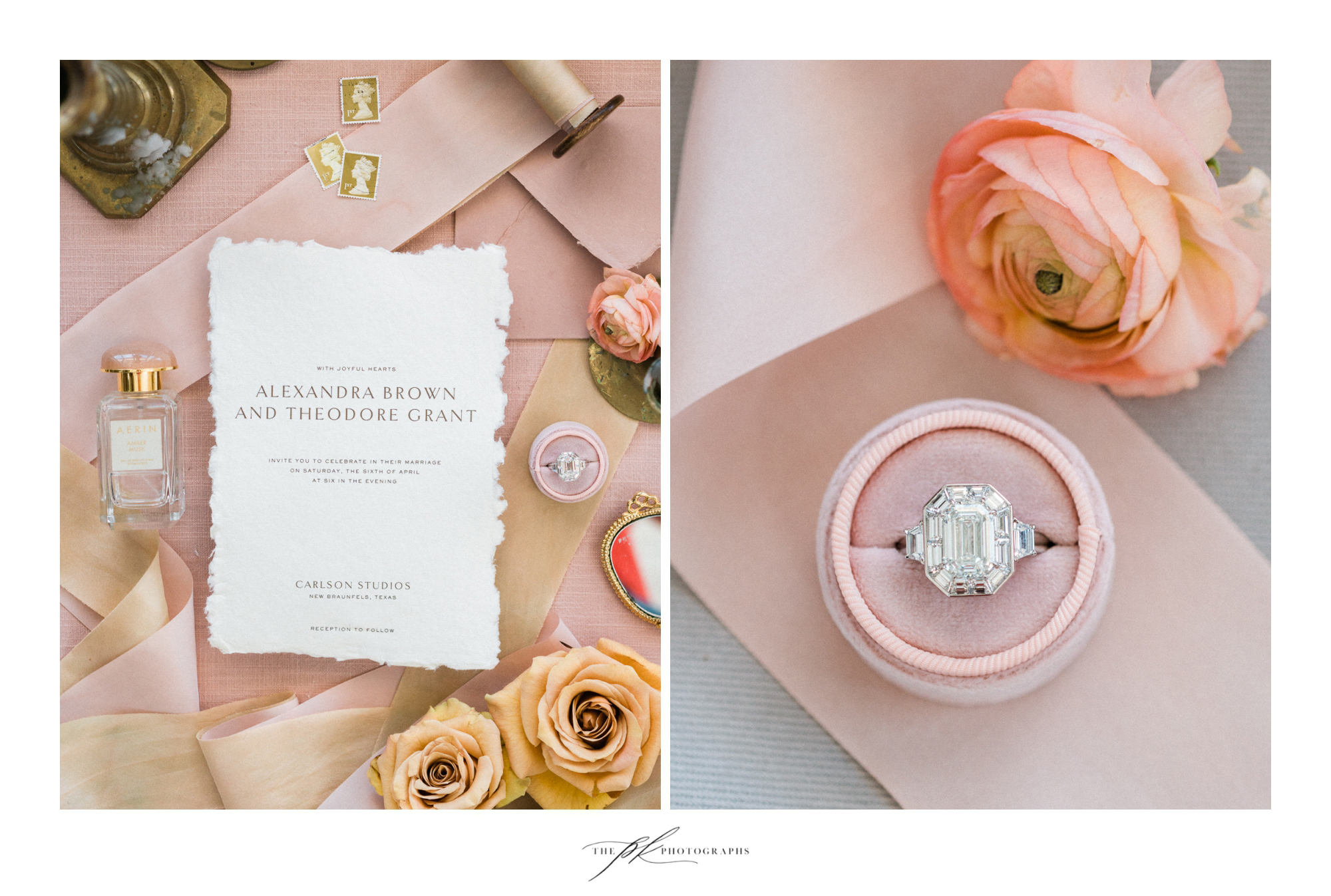 Photographer: Parker Radbourne of  The PK Photographs  Paper Suite:  Isidore and Augustine   Flowers:  The Vintage Bouquet Bar  Jewelry:  Nicole Mera  Ring Box:  Your Hearts Content