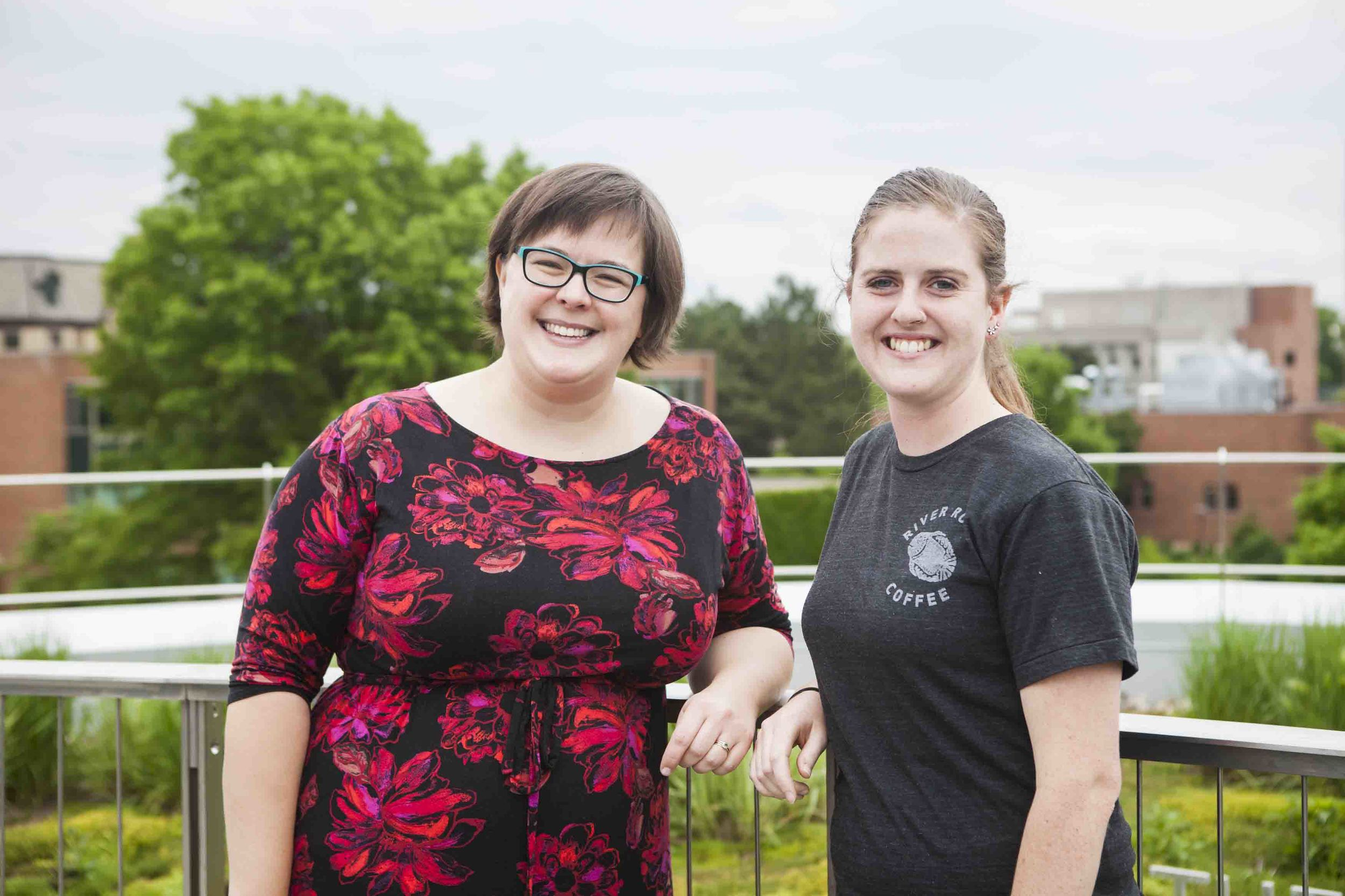 Kari Louwagie (right) pictured with her mentor Katie Matson-Daley (left).