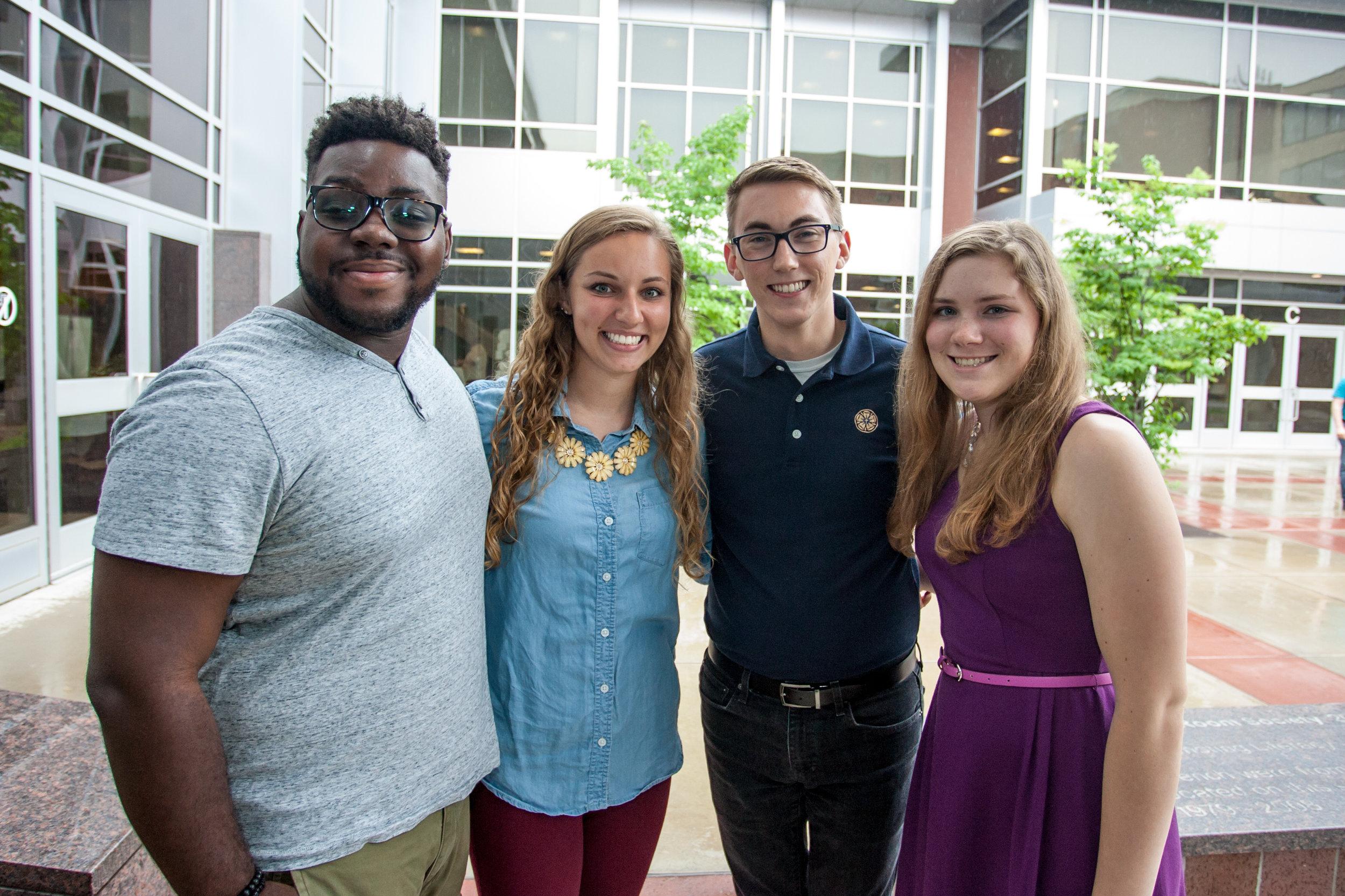 The 2018 ELI interns; Allison Schwarz is far right. Photo by David Haines