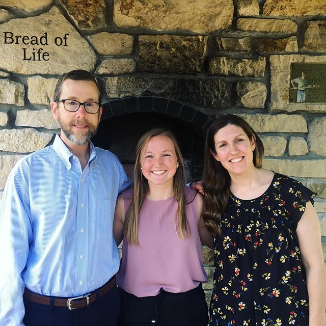 Eli Intern, Christina Johnson with Mentors Pastor Bill Eaves and Missie Aberle at White Bear Lake UMC