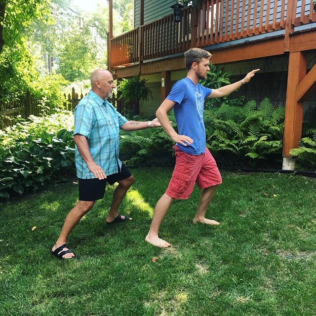 Joe learning tai chi.