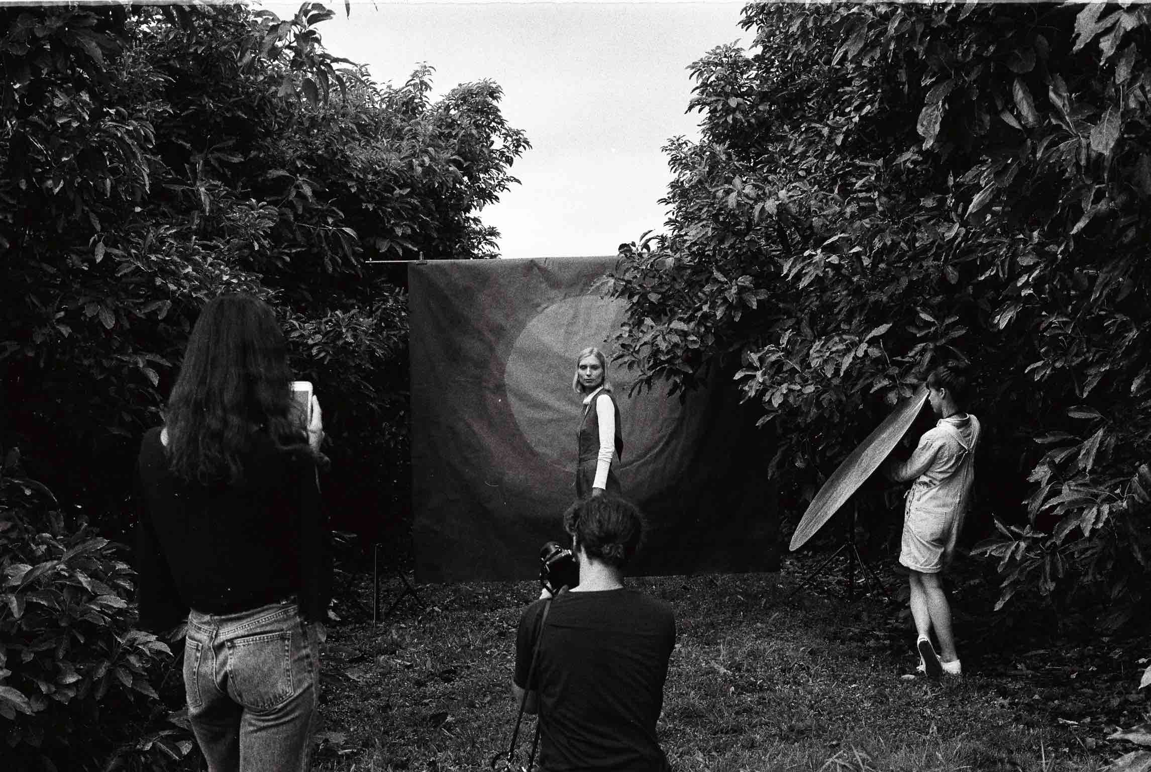 an intimate view - behind the scenes of our latest campaign.