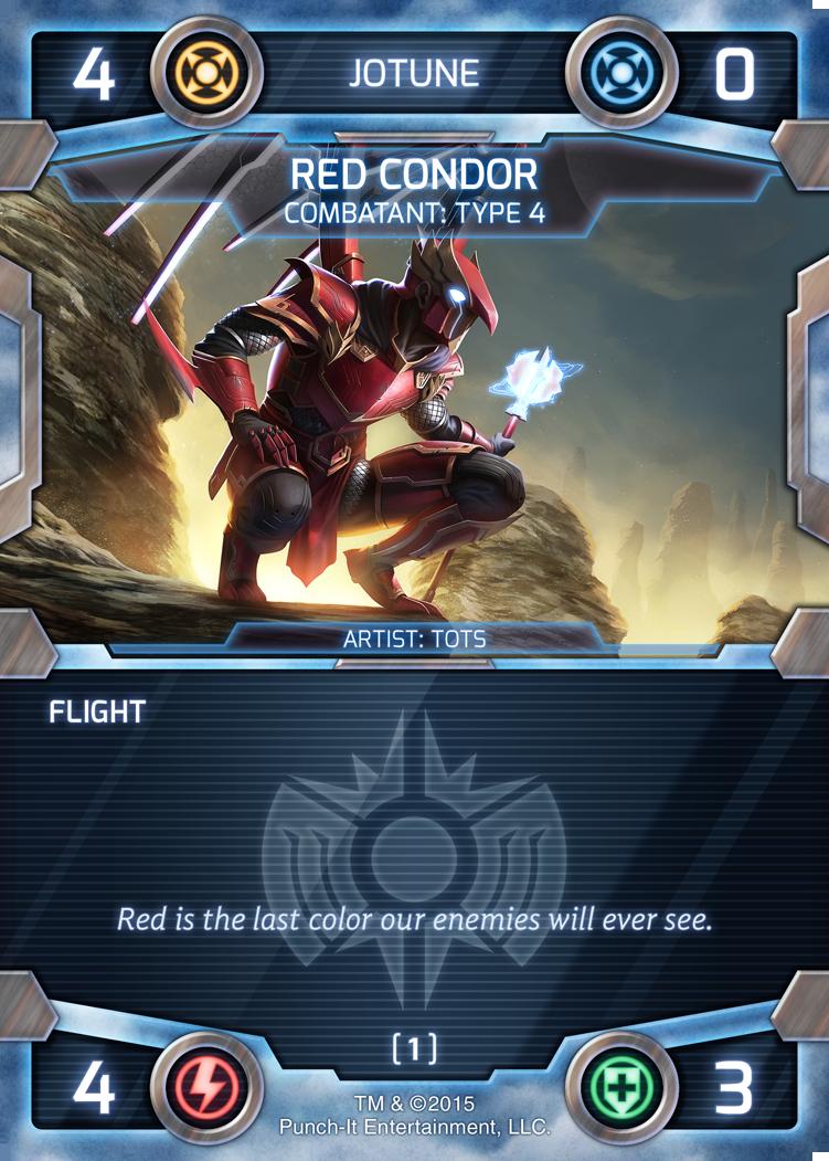 Red Condor, mid-level Jotune combatant with Flight.