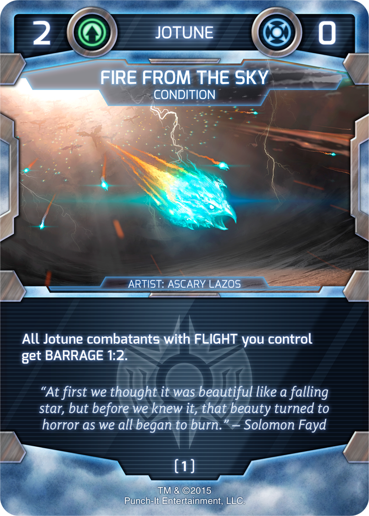 Fire from the Sky - Jotune Condition Card