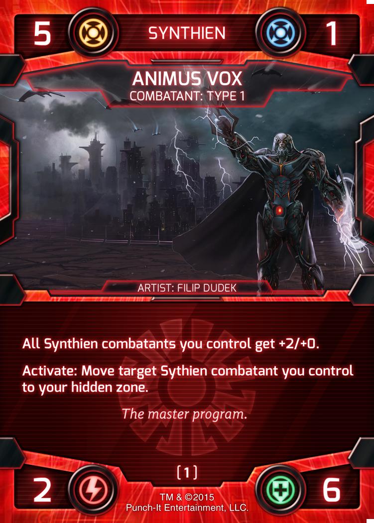Animus Vox - Synthien Combatant Card