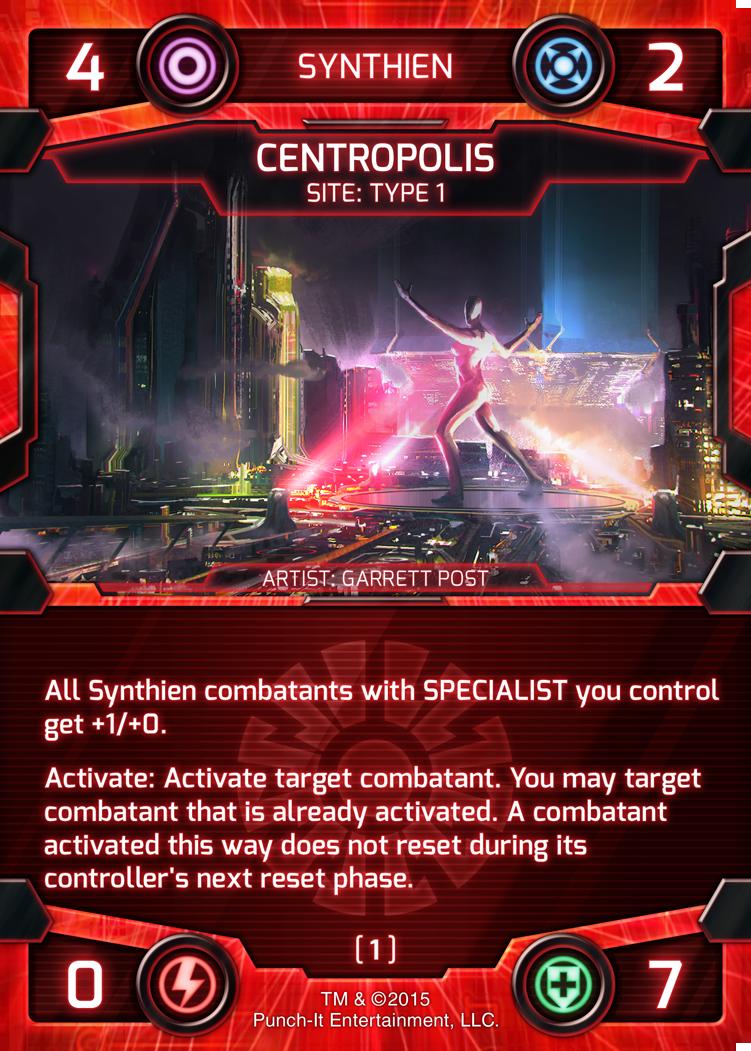 Centropolis Card - Synthien Site Card