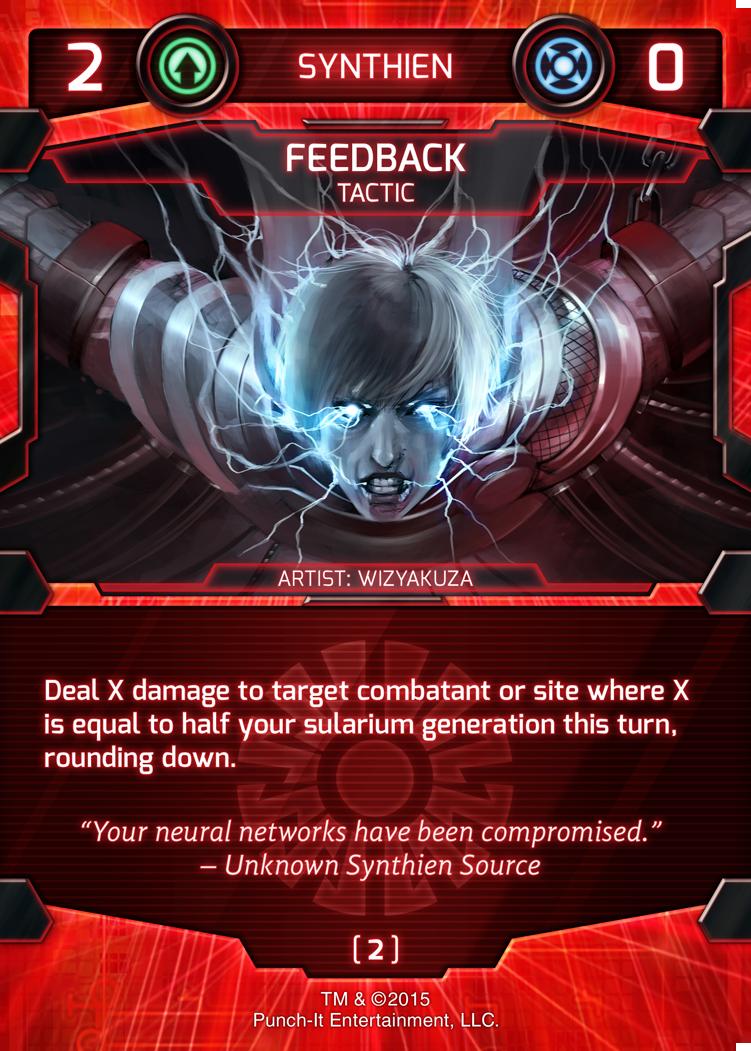Feedback - Synthien Tactic Card