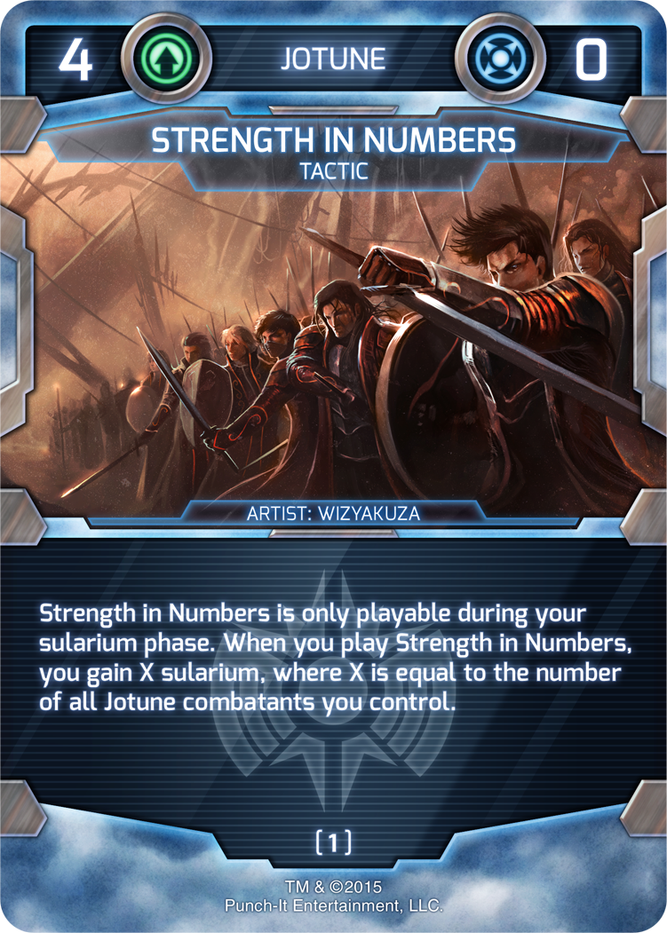 Strength in Numbers - Jotune Tactic Card