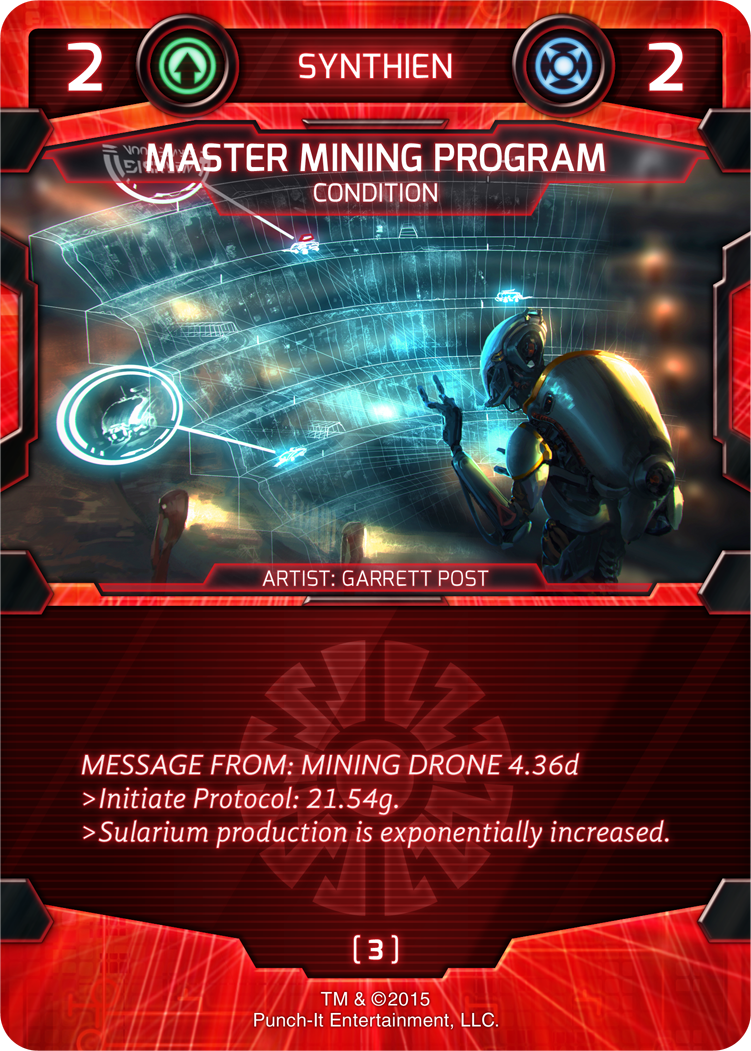 Master Mining Program - Synthien Condition Card