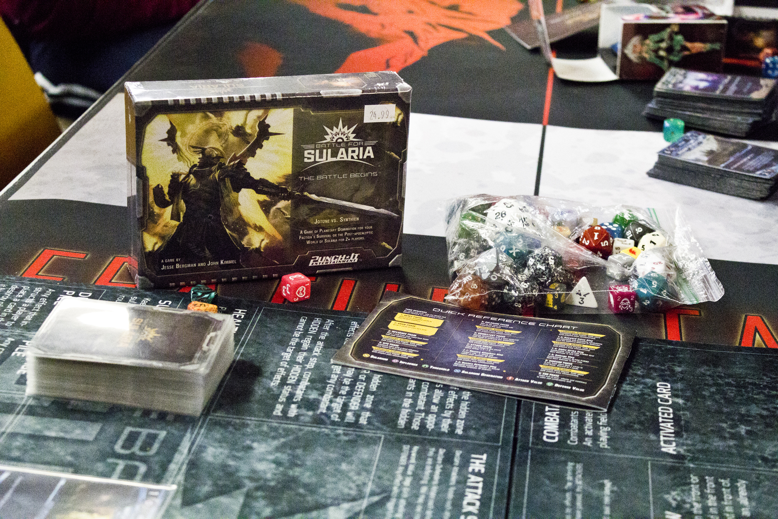 Players were cracking open battle kits this last Friday and getting their first experience of Battle for Sularia!