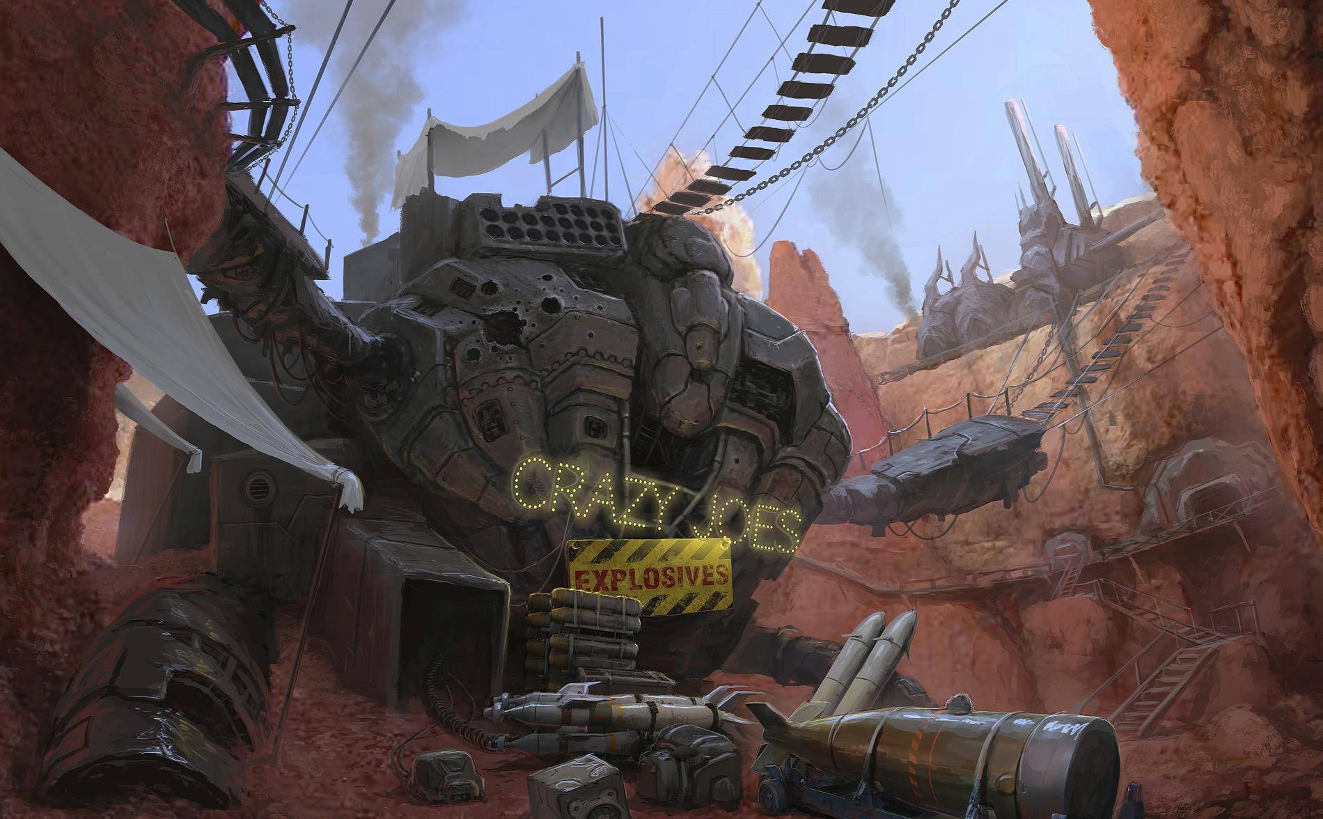 Crazy Joe's Explosives  | Art by Filip Dudek