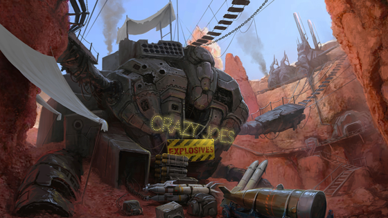 Crazy Joe's Explosives  | Art by Filip Dudek