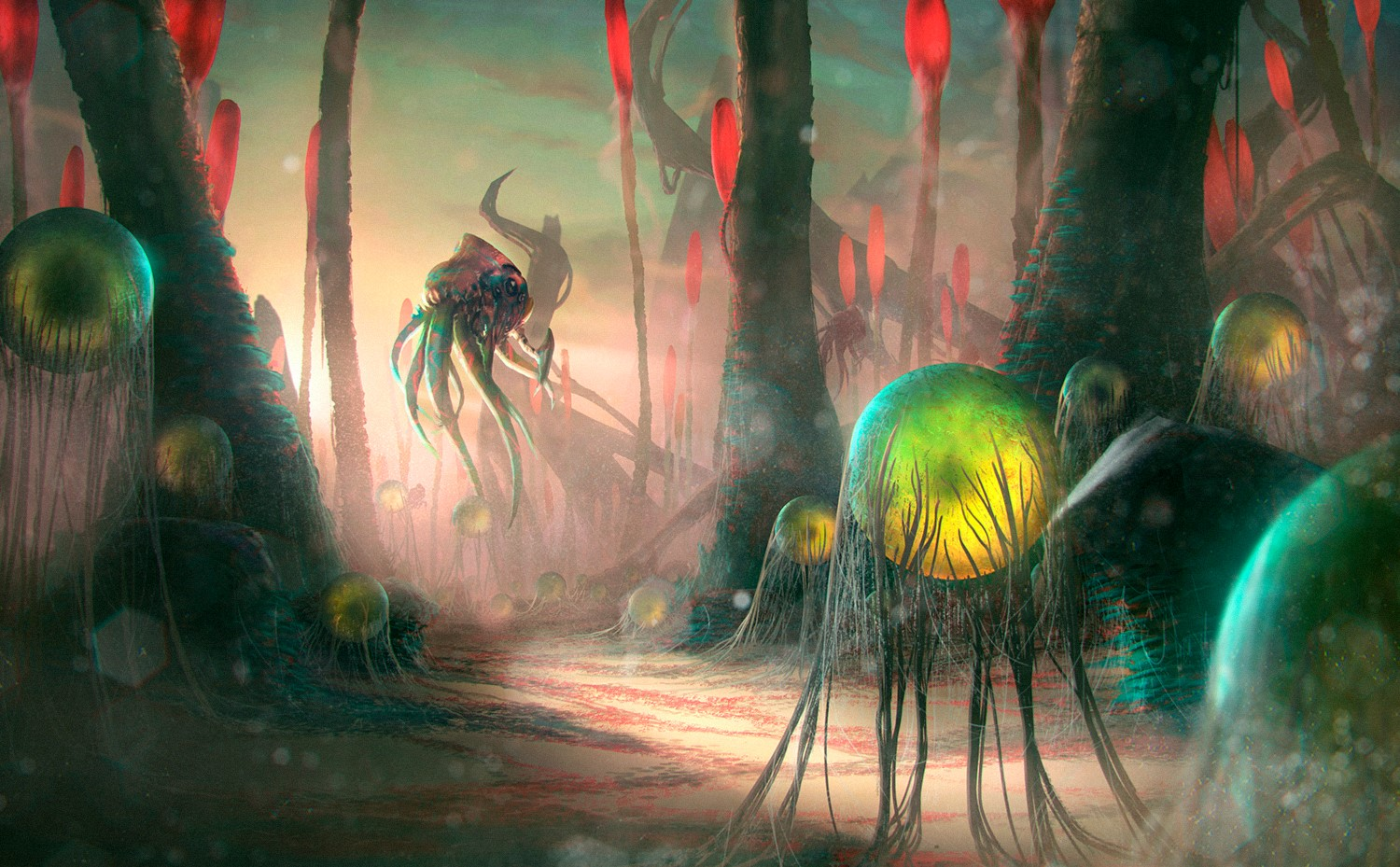 Deathspore Forest Art By: Ascary Lazos