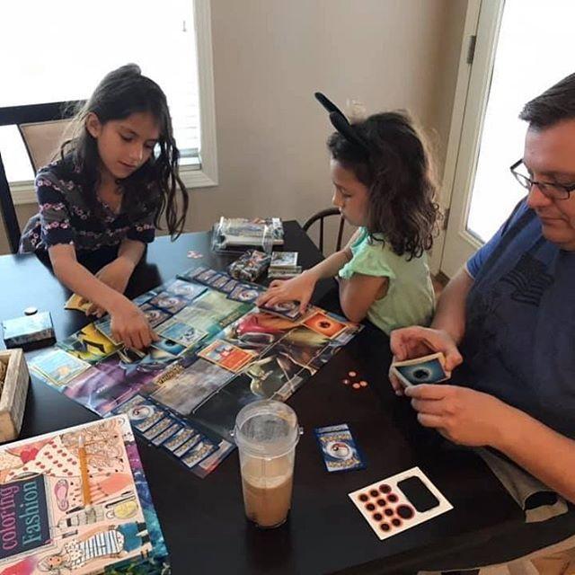 Teach the next generation @pokemon and help them experience the joys of a TCG. #pokemoncards #tcg #cardgames #cardgamesarefun #girlgamers #boardgamesofinstagram
