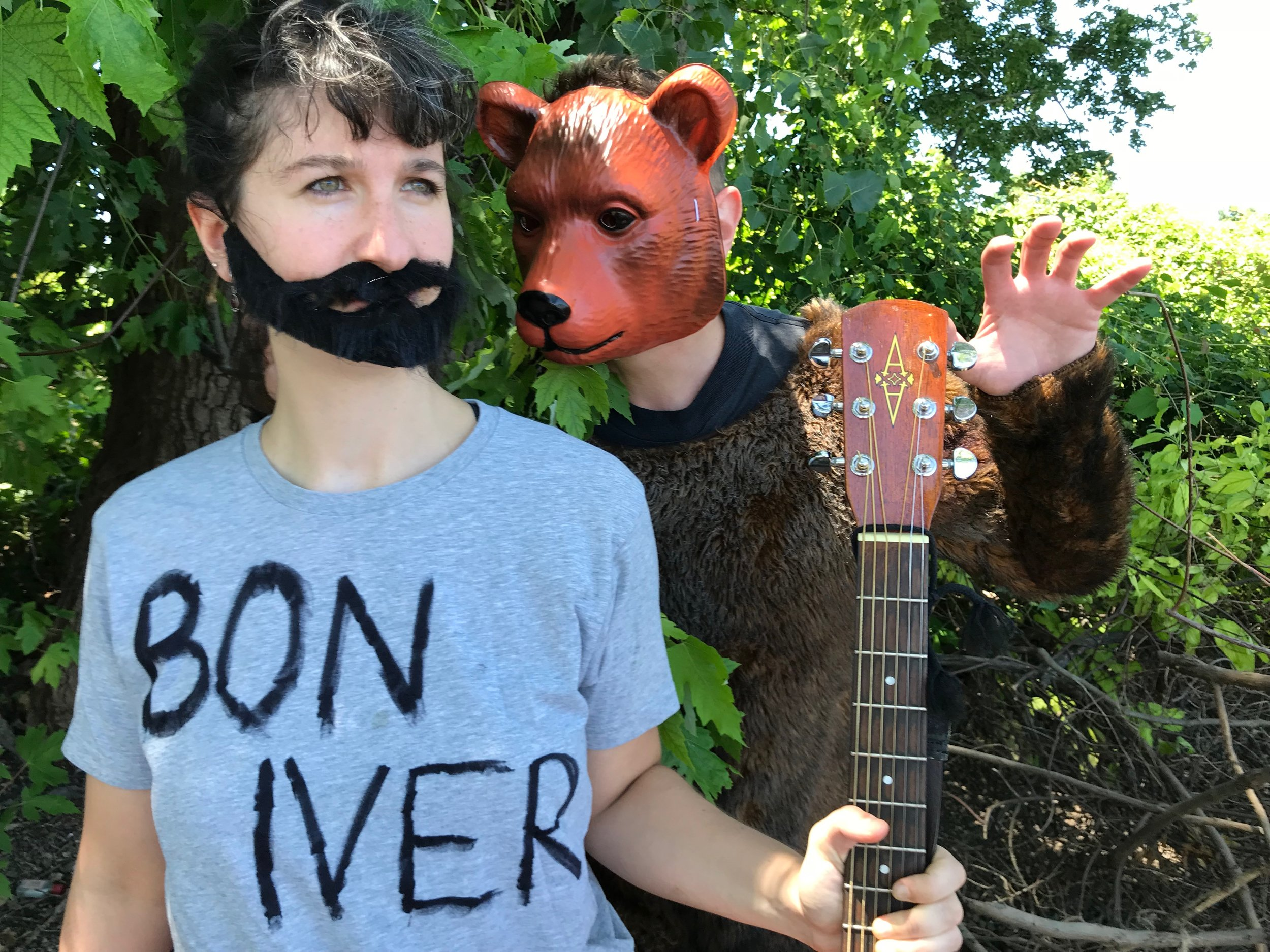 Emily Schuman (as Bon Iver) & doug greene (as The Bear)
