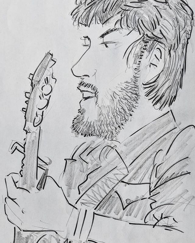 Captured in sketch by Scott Gibson at @riversongmusicfestival!