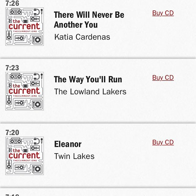 AND big thanks to @slingshotannie for showing us some love on @thecurrent's Local Show last night! We sure appreciate the spins!
