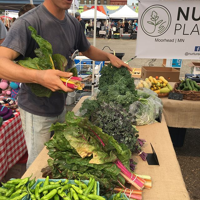 Spending the morning in Fargo, Checking out Haley's brother, Sam's @nurturedplainsfarm booth at the @redrivermarket. Yummmmmmmmm.
