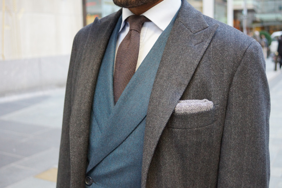Wool pocket square by J.Crew