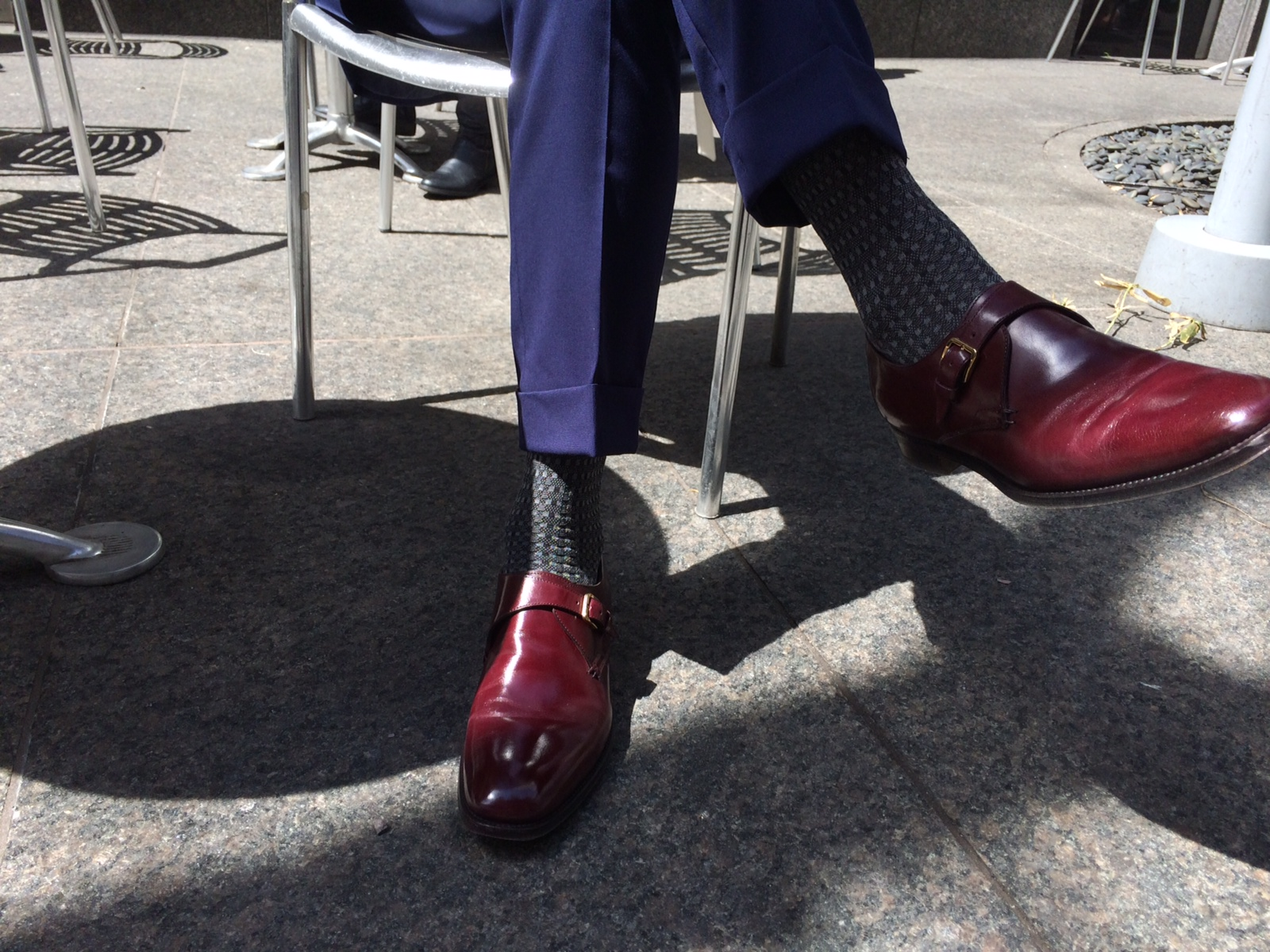 Trousers by Suit Supply, Socks by Brioni, Shoes by Sergio Rossi
